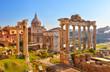 Leinwandbild Motiv Roman ruins in Rome, Forum