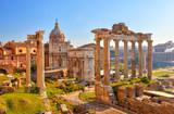 Fototapety Roman ruins in Rome, Forum