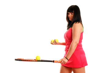 athletic woman playing tennis