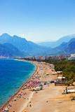 Fototapety Beach at Antalya Turkey