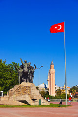 Mustafa Kemal Ataturk statue in Antalya Turkey