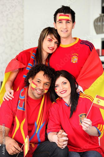 Group of Spanish supporters