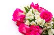 red roses and white Alstroemeria