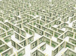 Financial Maze Labyrinth made of 100 usd banknotes.