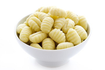 gnocchi isolated on a white background