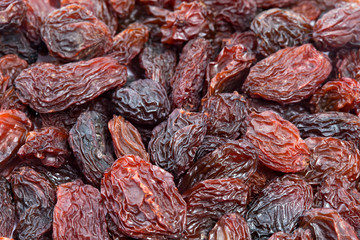 Raisins texture background.