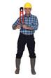 craftsman holding a huge spanner