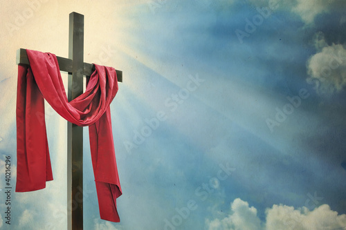 cross on white background - 40216296