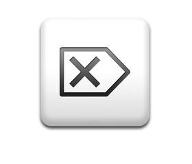 Boton cuadrado blanco simbolo borrado