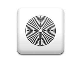 Boton cuadrado blanco simbolo laberinto