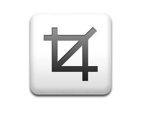 Boton cuadrado blanco con simbolo recortar