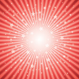 vector abstract background of red star burst