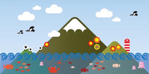 island ilustration