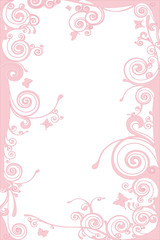 pink background with butterflies