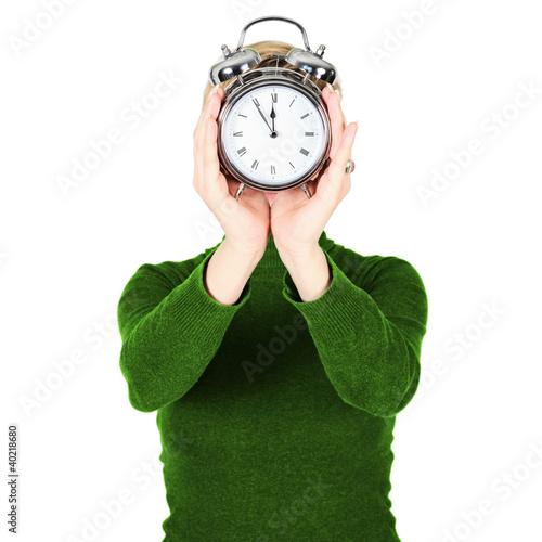 Uhr - Zeit   Person mit Uhr