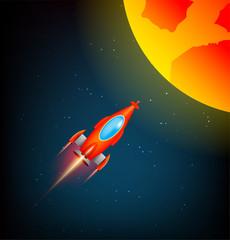 Vector Rocket Illustration