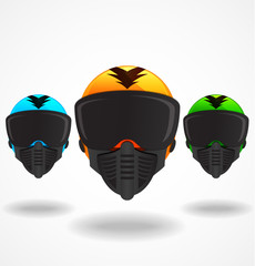 Colored Vector Helmets