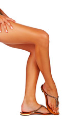 woman legs with sandals