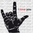 I love you hand symbolic gestures. Vector illustration