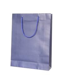 blue shopping bag isolated on white background