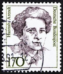 Postage stamp Germany 1988 Hannah Arendt, American Political Sci
