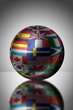Globe with different country flags
