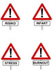 Schild Stress Infakt Risiko Burnout