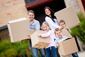 Family moving house