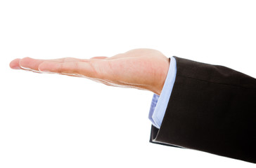Business hand extended