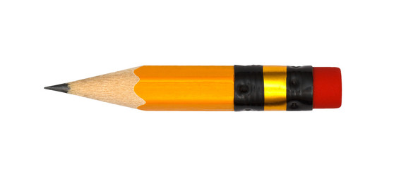 short pencil isolate