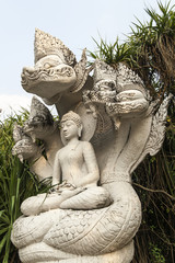 Buddha sit on naga
