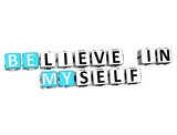 3D Believe in Myself text poster