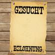 Plakat - GESUCHT BELOHNUNG