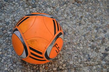 Balón de futbol, El Rompido. Huelva.