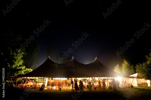 Night time wedding tent with stars visible. - 40230261