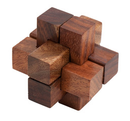 Puzzle of the wooden blocks