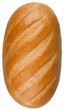 A loaf of bread isolated on the white background