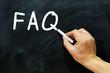FAQ written on a chalkboard
