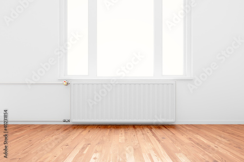 Radiator in empty room