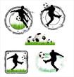 Soccer grunge stamps