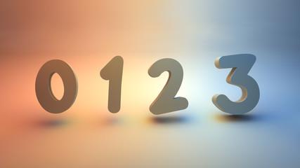 numerical 0123