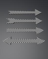 checkered arrows