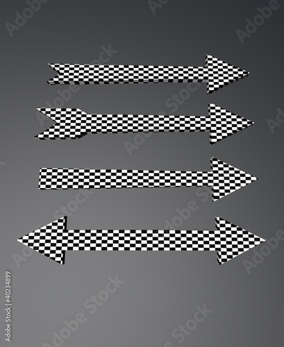 checkered arrows