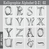Kalligraphie Alphabet Q-Z| 02