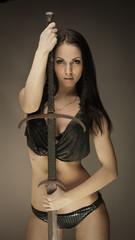 Amazon with sword
