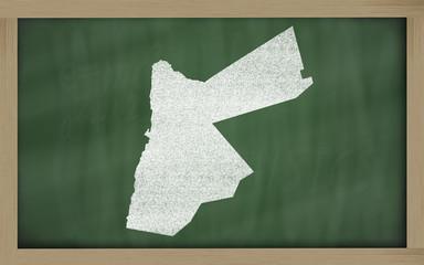 outline map of jordan on blackboard