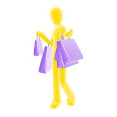 shopping yellow