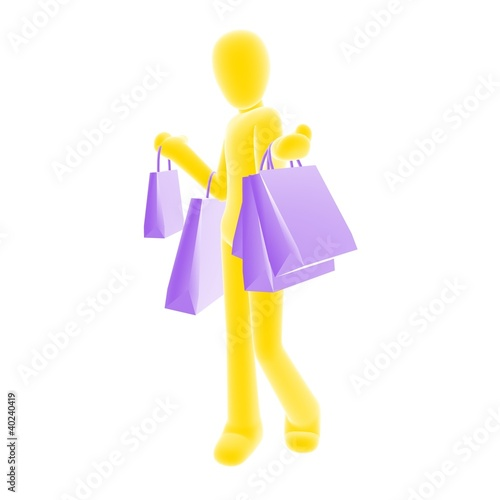 shopping yellow