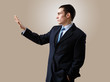 Young businessman making presentation