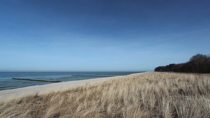 Baltic Sea - Beach with Dunes and Grass waving